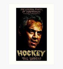 Hockey: The Undead! Art Print