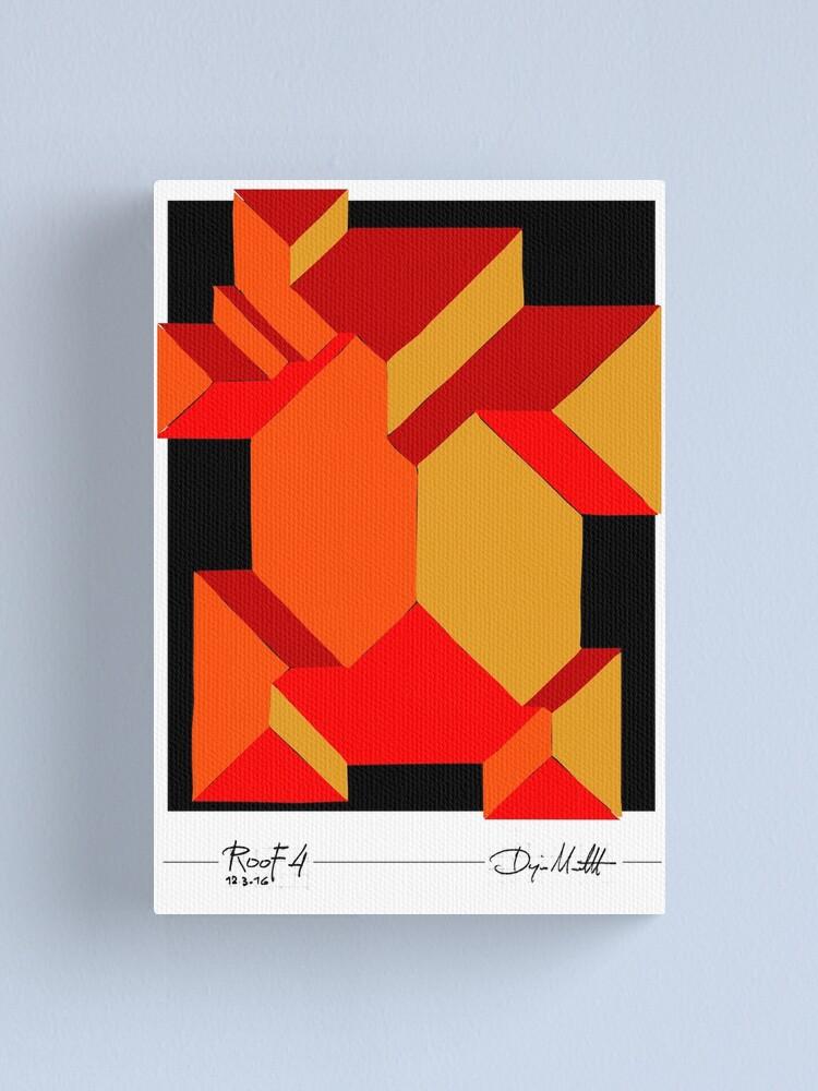 Alternate view of Geometric Art - Orange Roof Canvas Print