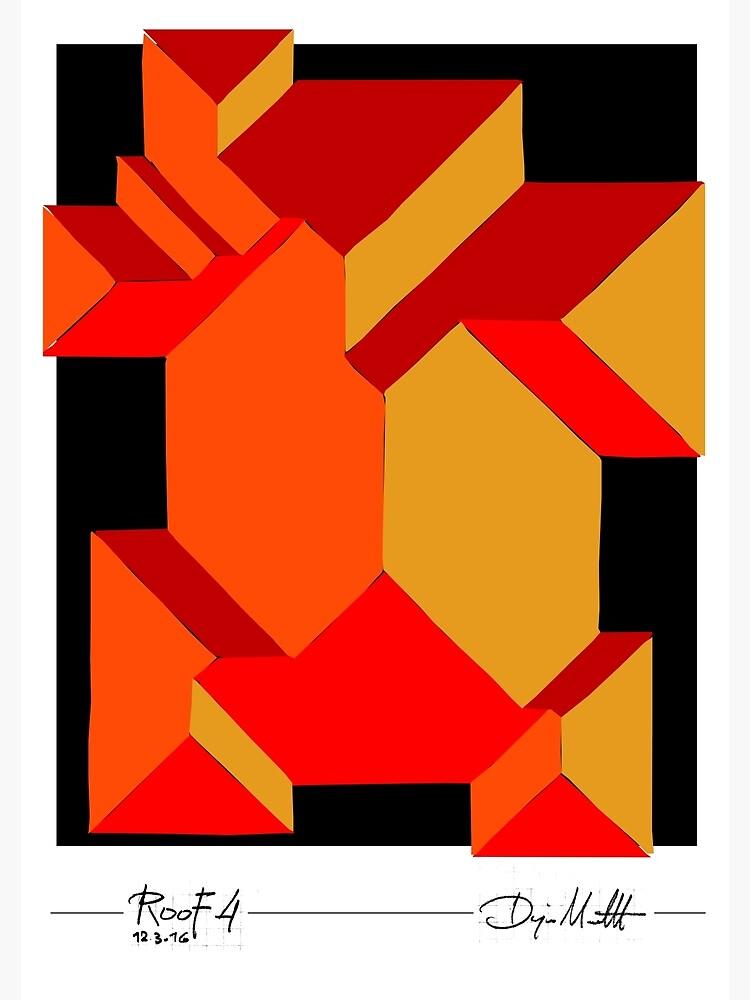 Geometric Art - Orange Roof by pahleeloola
