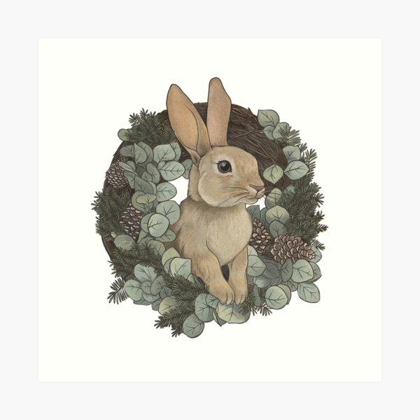 Winter Rabbit Art Print