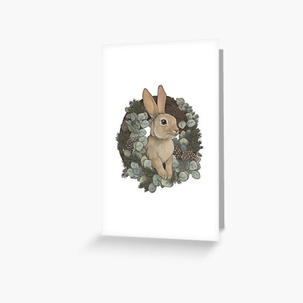 Winter Rabbit Greeting Card