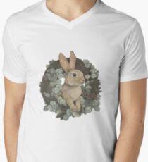 Winter Rabbit V-Neck T-Shirt
