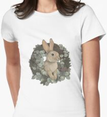 Winter Rabbit Fitted T-Shirt