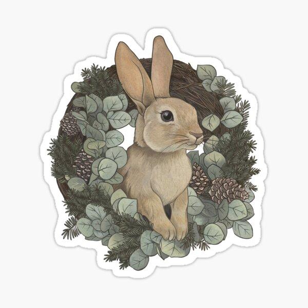 Winter Rabbit Sticker