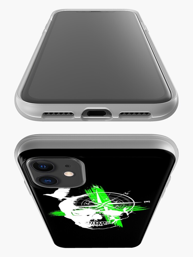 Alternate view of Skull compass tattoo style iPhone Case & Cover