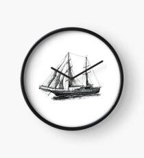 The illustration of Tall Sail Ship Clock