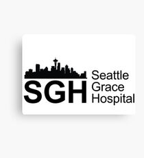 SGH- Seattle Grace Hospital- Grey's  Canvas Print