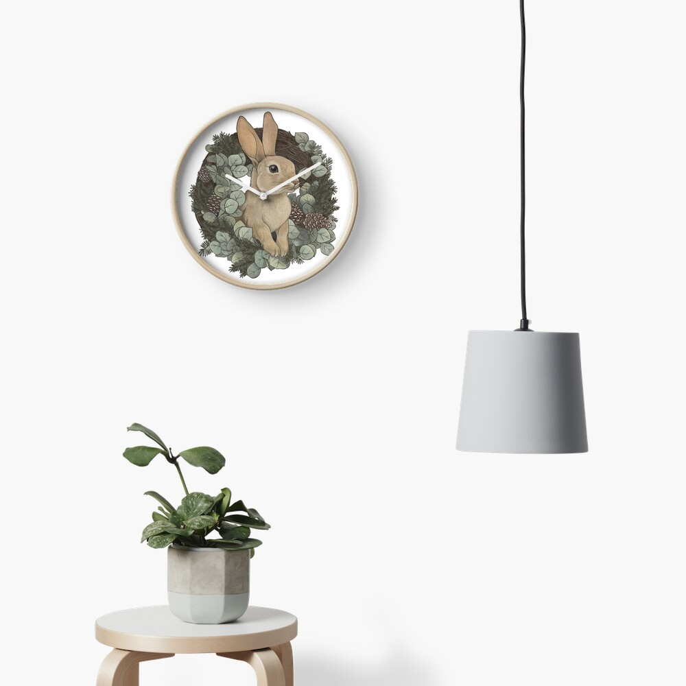 Winter Rabbit Clock