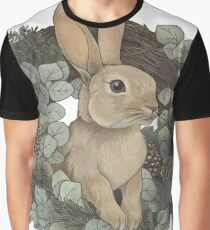 Winter Rabbit Graphic T-Shirt