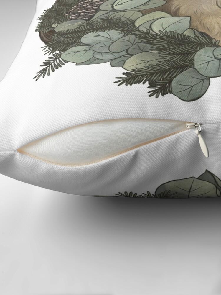 Alternate view of Winter Rabbit Floor Pillow