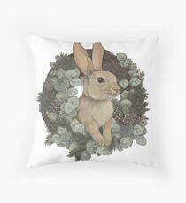 Winter Rabbit Floor Pillow