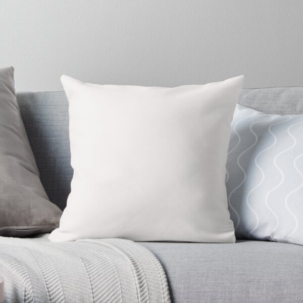 BEAUTIFUL COLORS - PLAIN SNOW - 100 SHADES OF NEUTRAL ON OZCUSHIONS Throw Pillow