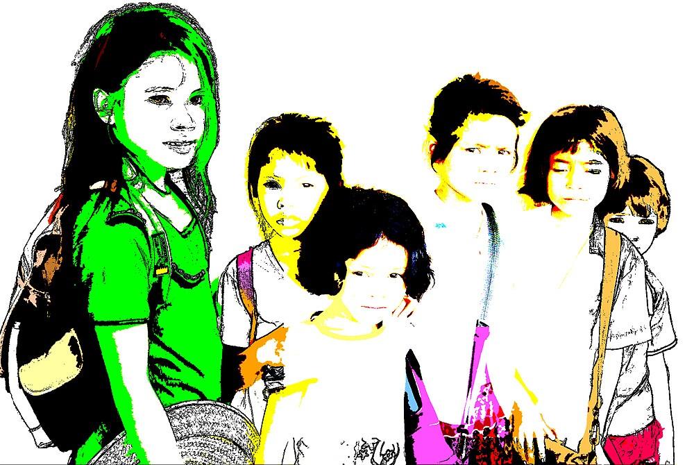 Cambodian kids 01 by Mick Yates