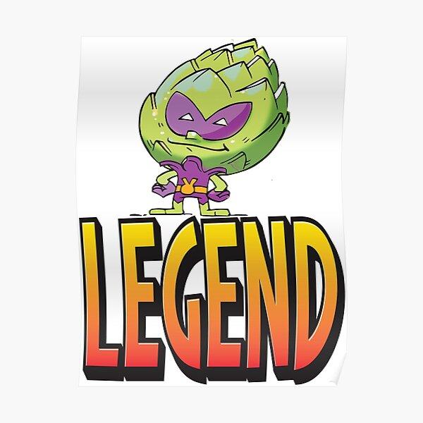 Legend Artichoke Alien The Man The Myth The Legend Funny Alien I Believe in Aliens Foodietoon Poster
