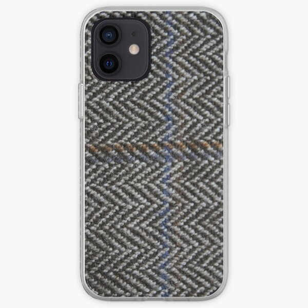 Tweed Fabric, zig zag iPhone Soft Case