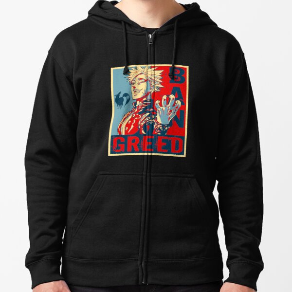 Seven Deadly Sins Anime Ban Greed Zipped Hoodie