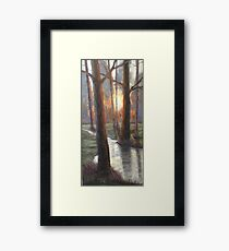 Sunrise Creek Framed Print