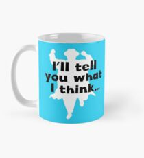 Grett's Thinking Mug Blue Mug