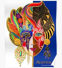 'Lady Australia' A Yanks Impression Poster