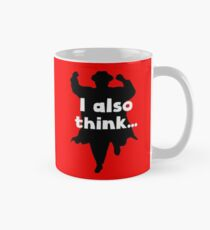 Grett's Thinking Mug Red Mug