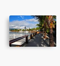 Suburbia Takes Over the Tropics Canvas Print