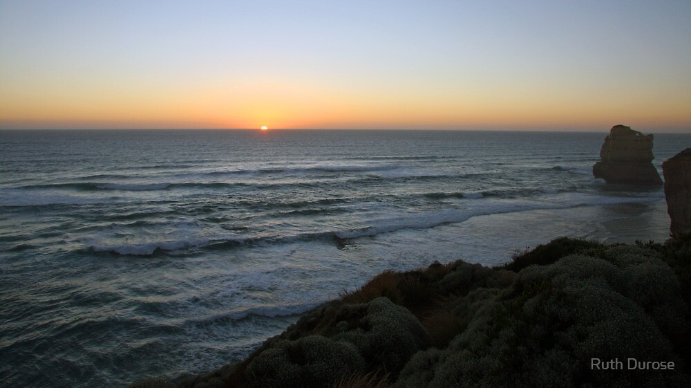 Sunset - Gibson Steps, Great Ocean Road, Victoria by Ruth Durose