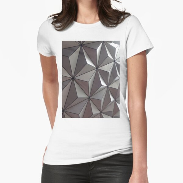 3D Surface, #abstract #pattern #mosaic #design #art #illustration #modern #tile #shape #square #vertical #colorimage #geometricshape #textured #backgrounds #seamlesspattern #triangleshape #styles Fitted T-Shirt