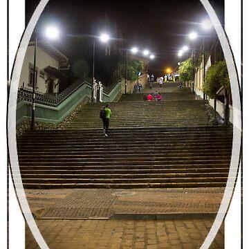 La Escalinata Staircase, Cuenca, Ecuador by alabca