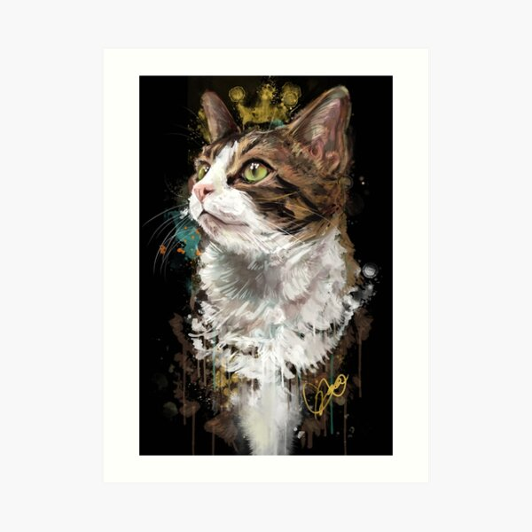 Project Caturday - King Louis the VII Art Print