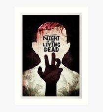 Night of the Living Dead - Minimal Poster Design Art Print