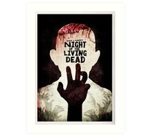 Night of the Living Dead - Minimal Poster Design Art Print