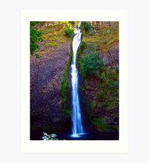 Horsetail Falls on the Historic Columbia River Hwy Art Print