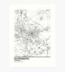 Nürnberg Karte Deutschland.Nürnberg Wandbilder Redbubble