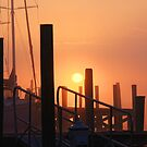 Sun on docks by Timothy Gass