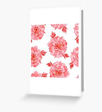 - Seamless peony pattern - Greeting Card