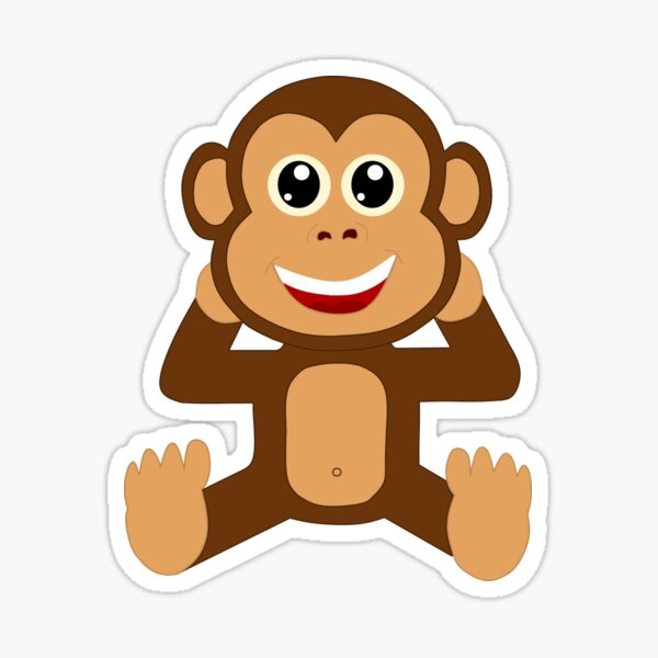 Baby Schimpanse Mein Lieblings Kuscheltier Comicstyle Sticker