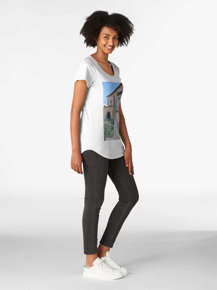 Alternate view of A Girl Wearing a Beanie Premium Scoop T-Shirt