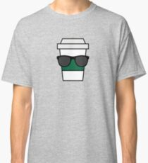 Cool coffee cup with sunglasses Classic T-Shirt