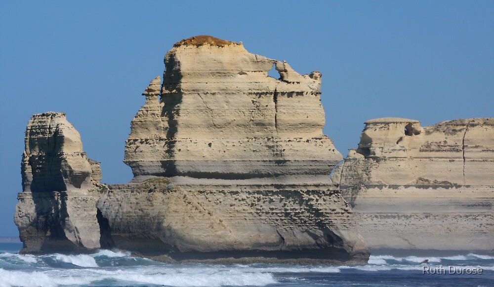 Sea Stacks - Gibson Steps, Great Ocean Road, Victoria by Ruth Durose