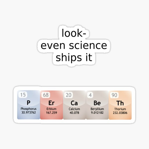 percabeth- even science ships it! Sticker