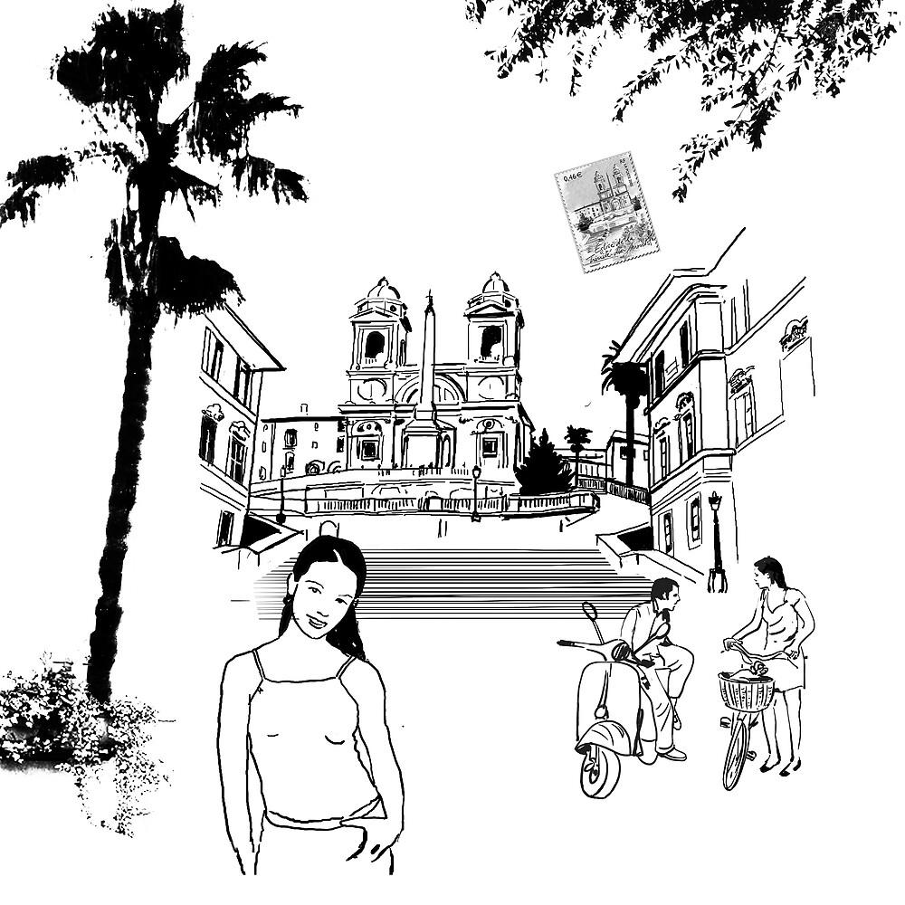 Roma, piazza di Spania by Roger Patrice