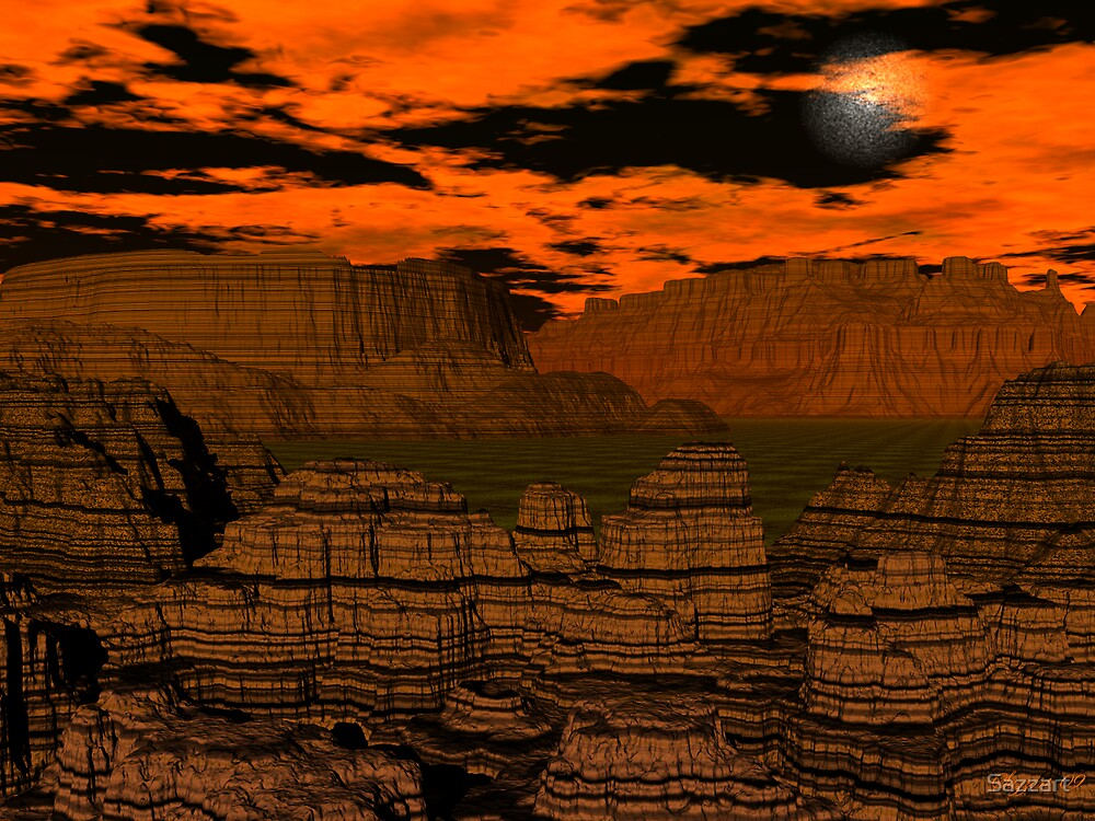 A night in Bryce Canyon by Sazzart