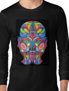 Stained Glass Mirror Long Sleeve T-Shirt