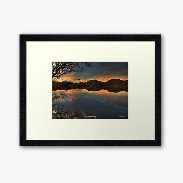 Sunrise Loch Drumbeg Framed Art Print