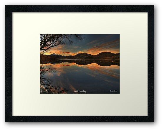 Sunrise Loch Drumbeg by Alexander Mcrobbie-Munro