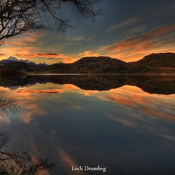 Sunrise Loch Drumbeg by Alexanderargyll