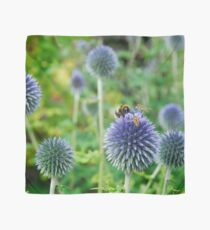 The Buzz in the Garden Blue Globe Flowers Scarf