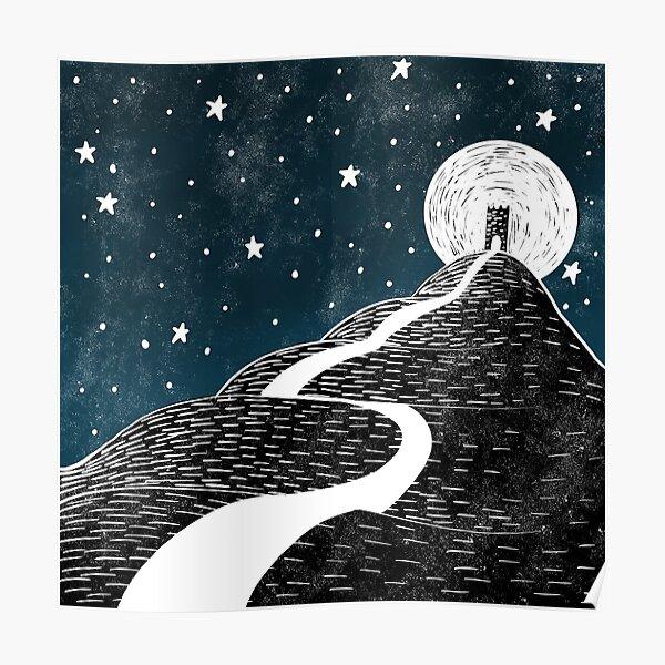 Glastonbury Tor by Moonlight Poster