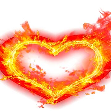 heart in flame by autrouvetout