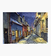 Prague Golden Line Winter Photographic Print